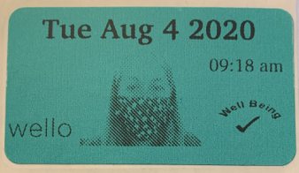 Photo: Wello Temperature Sticker
