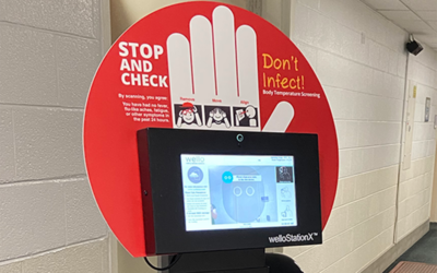 New Touchless Temperature Check Stations